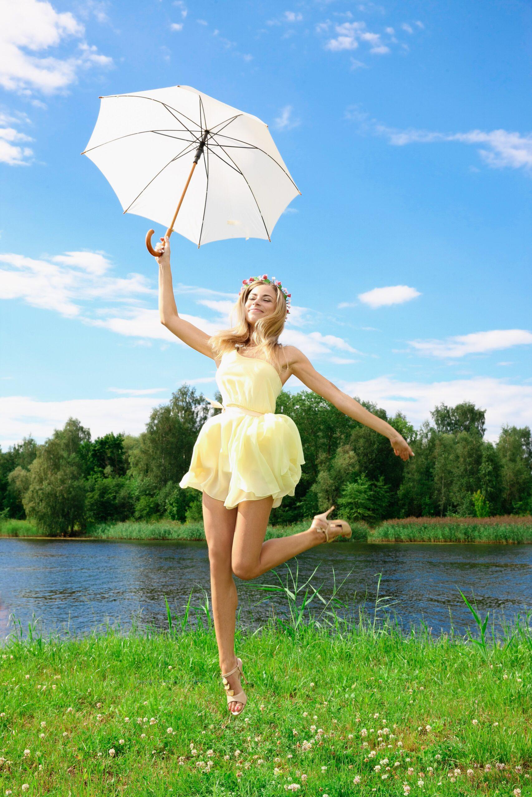 Tag en grå golfparaply med på ferien så er du godt dækken ind